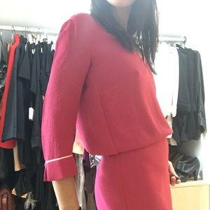 Maje 3/4 sleeve pink dress